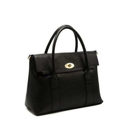 Rachel - Classic Grain - Hand bags - Black - D28 - Gold