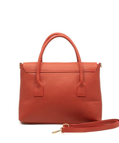 Rachel - Classic Grain - Hand bags - Red - D61 - Gold