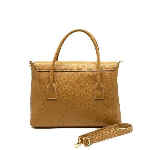 Rachel - Classic Grain - Hand bags - Brown - D85 - Gold