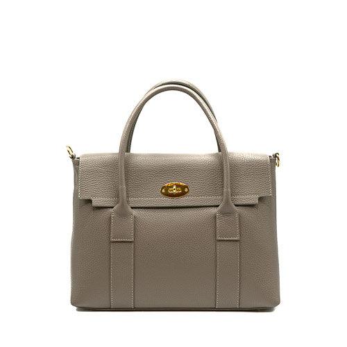 Rachel - Classic Grain - Hand bags - Grey - D77 - Gold