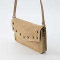Laura - Suede - Crossbody bags - Beige - 4 - Bronze