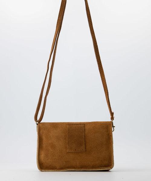 Laura - Suede - Crossbody bags - Brown - 6 - Bronze