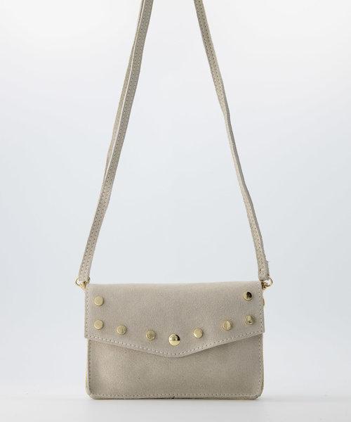 Laura - Suede - Crossbody bags - White - 2 - Bronze