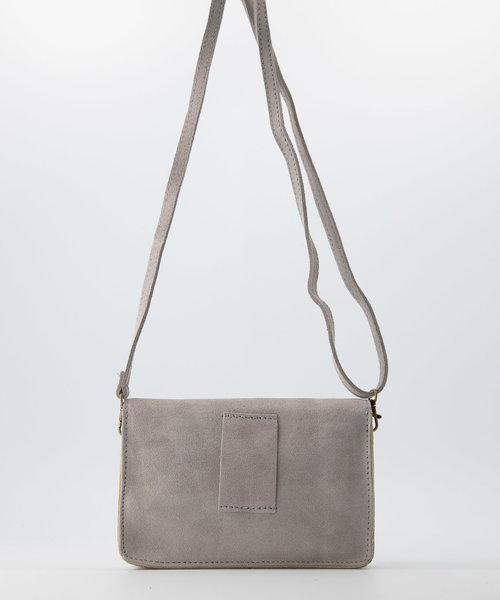 Nieuw Laura - Suede - Crossbody bags - Grey - 33 - Bronze