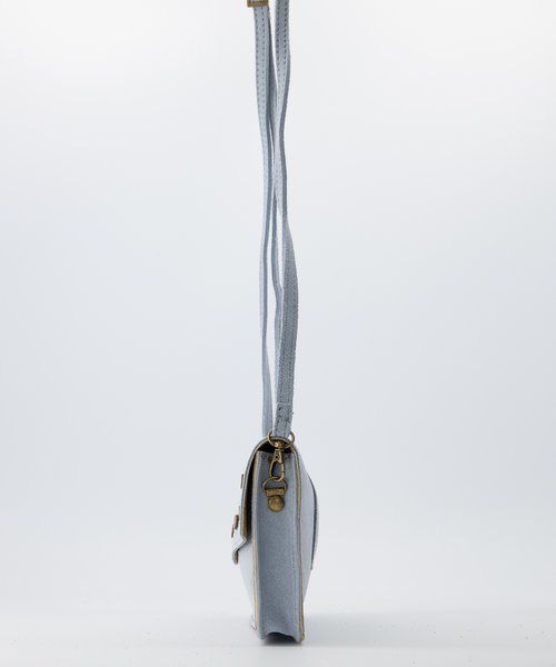 Laura - Suede - Crossbody bags - Blue - 47 - Bronze