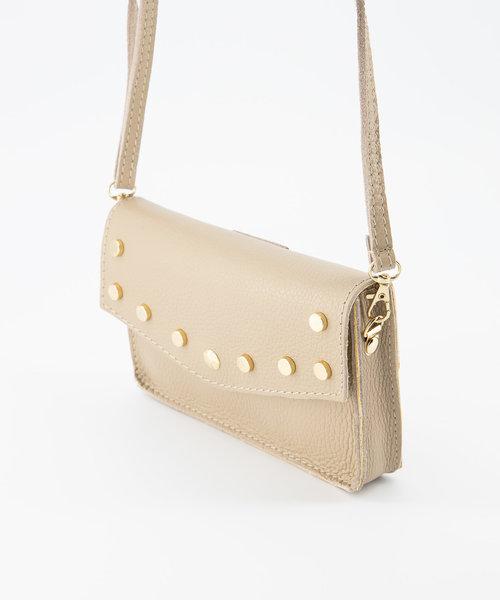 Laura - Classic Grain - Crossbody bags - Taupe - D05 - Gold