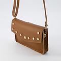 Laura - Classic Grain - Crossbody bags - Brown - D17 - Gold