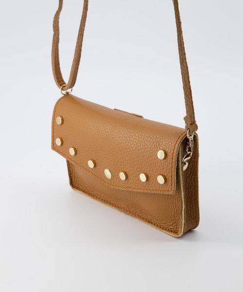 Nieuw Laura - Classic Grain - Crossbody bags - Brown - D44 - Gold