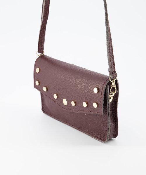Laura - Classic Grain - Crossbody bags - Red - D54 - Gold