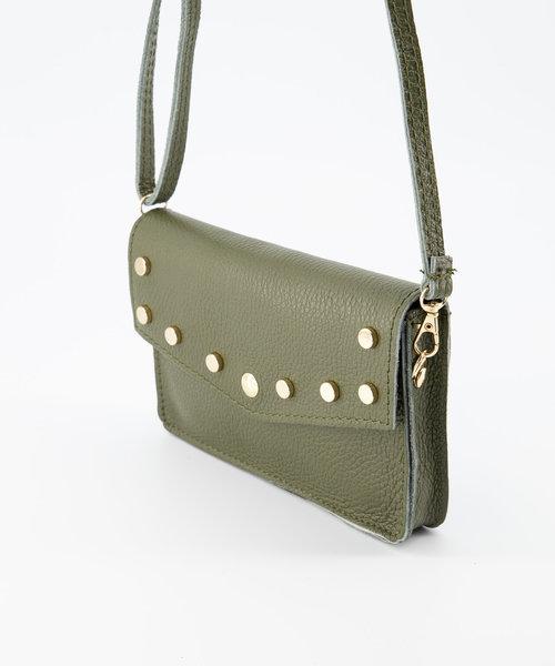 Laura - Classic Grain - Crossbody bags - Pink - D74 - Gold
