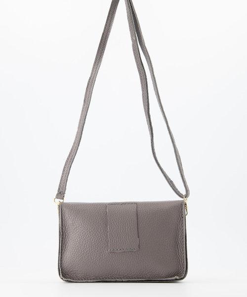 Laura - Classic Grain - Crossbody bags - Grey - D77 - Gold