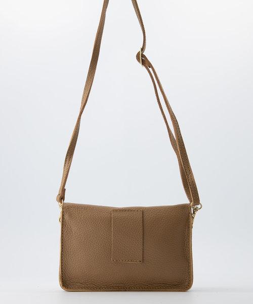 Laura - Classic Grain - Crossbody bags - Brown - D85 - Gold