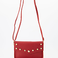 Laura - Classic Grain - Crossbody bags - Red - L130 - Gold