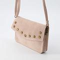 Laura - Suede - Crossbody bags - Pink - 43 - Bronze