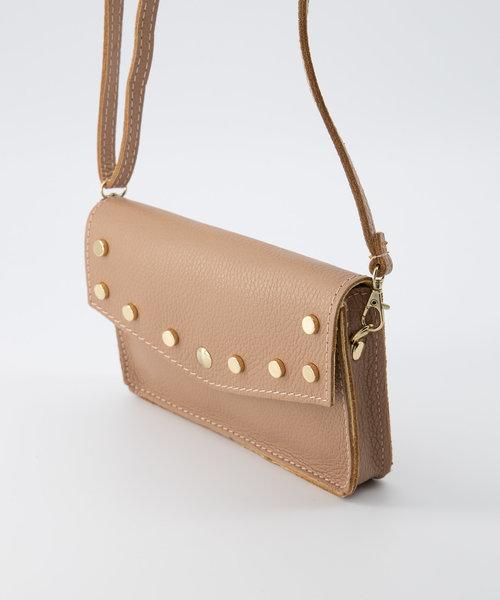 Laura - Classic Grain - Crossbody bags - Beige - D50 - Gold