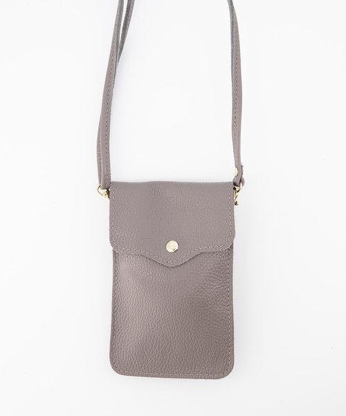 Pona - Classic Grain - Crossbody bags - Grey - D77 - Gold