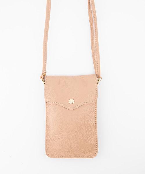Pona - Classic Grain - Crossbody bags - Pink - D83 - Gold