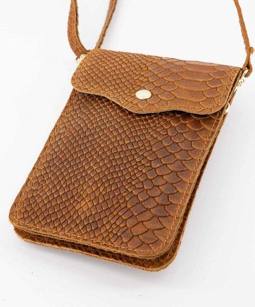 Pona - Snake - Crossbody bags - Brown - 6 - Gold