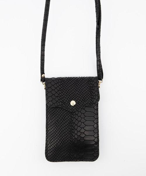 Pona - Snake - Crossbody bags - Black - 23 - Gold