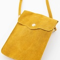 Pona - Suede - Crossbody bags - Yellow - 44 - Gold