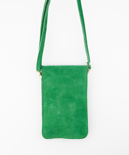 Pona - Suede - Crossbody bags - Green - 35 - Gold
