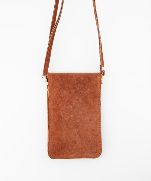 Nieuw Pona - Suede - Crossbody bags - Brick - 61 - Gold