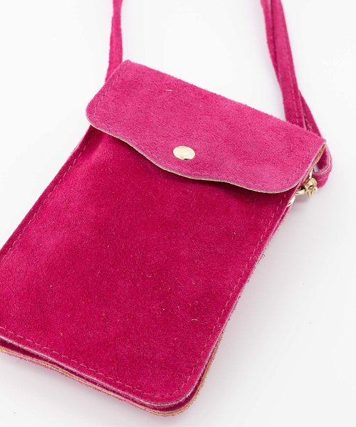 Pona - Suede - Crossbody bags - Pink - 16 - Gold