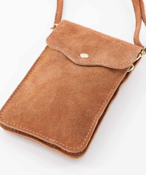 Pona - Suede - Crossbody bags - Pink - 45 - Gold
