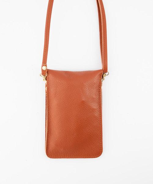 Pona - Classic Grain - Crossbody bags - Red - D61 - Gold