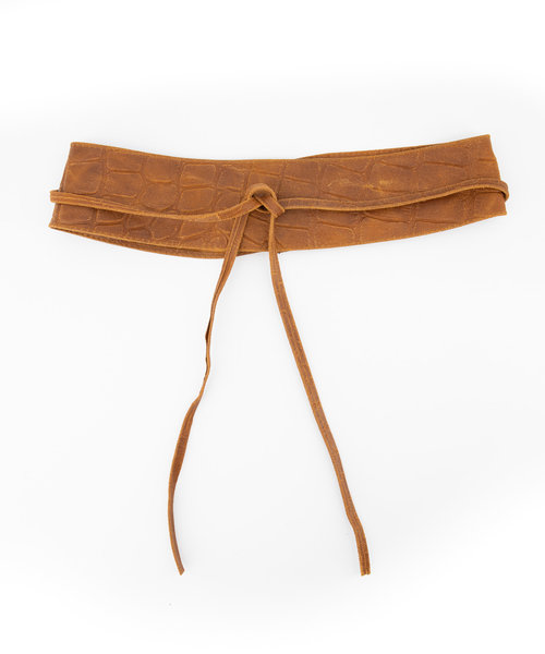 Lily - Croco - Waist belts - Brown - 6 -
