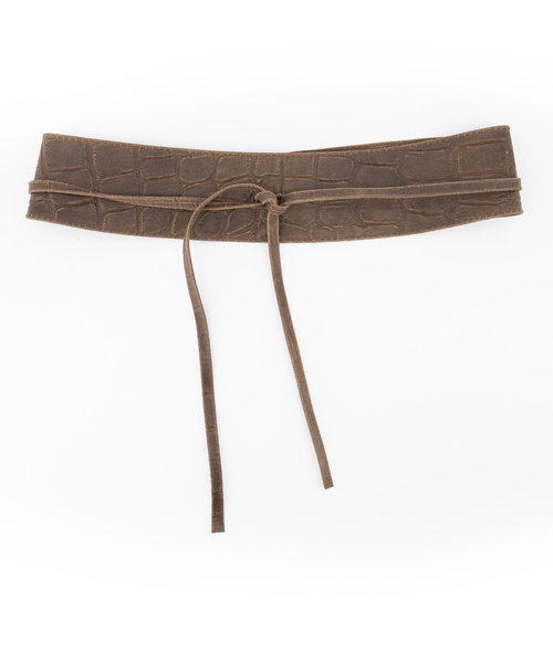 Lily - Croco - Waist belts - Taupe - 24 -
