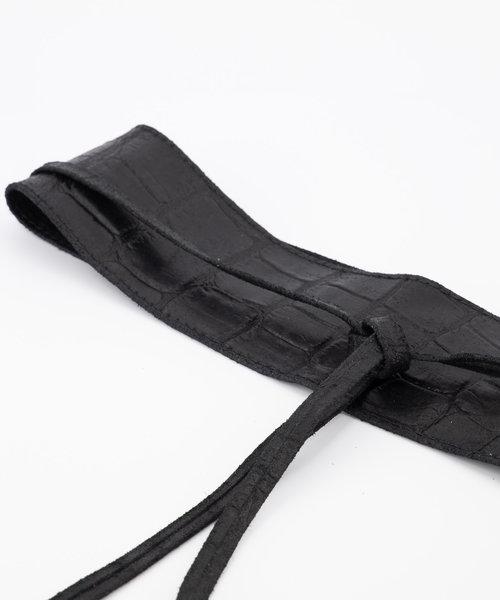 Lily - Croco - Waist belts - Black - 23 -