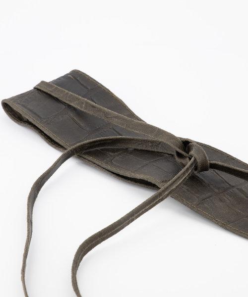 Lily - Croco - Waist belts - Green - 49 -