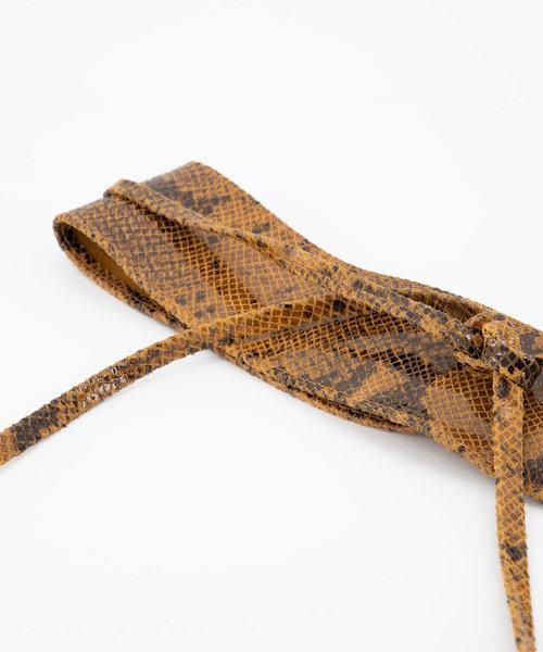 Lily - Slangen - Wikkelriemen - Bruin - 6 -