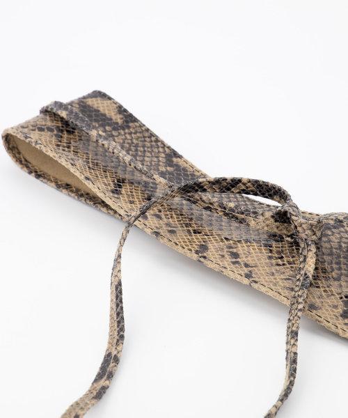 Lily - Slangen - Wikkelriemen - Beige - 4 -