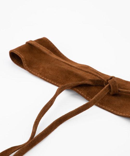 Nikkie - Suede - Waist belts - Brown - 37 -