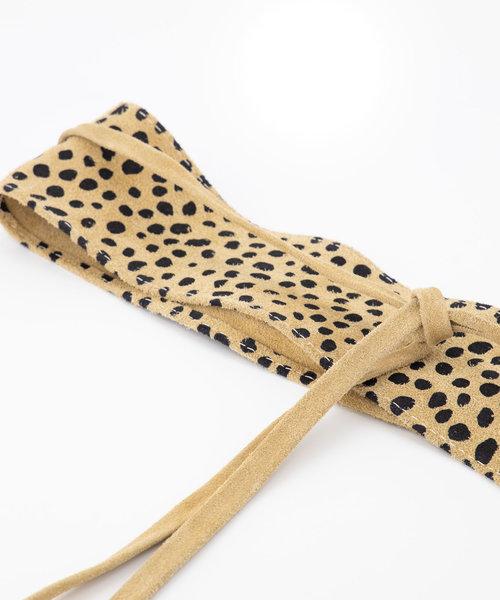 Nikkie - Suede - Wikkelriemen - Beige - Cheetah