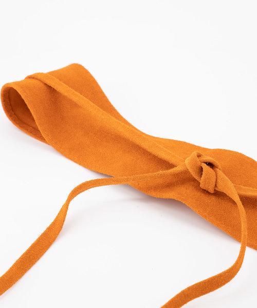 Nikkie - Suede - Wikkelriemen - Oranje - 13