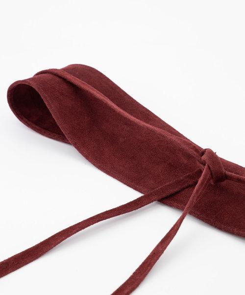 Nikkie - Suede - Waist belts - Red - 40 -