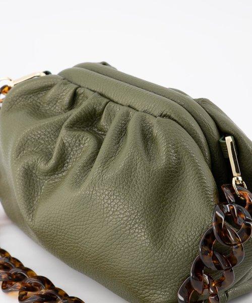Beau - Classic Grain - Shoulder bags - Green - D74 - Gold