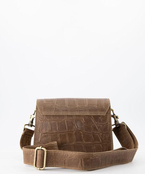 Hannah - Classic Grain - Crossbody bags - Taupe - 24 - Bronze