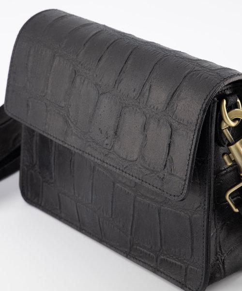 Hannah - Classic Grain - Crossbody bags - Black - 23 - Bronze
