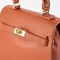 Helene - Classic Grain - Hand bags - Brick - D61 - Gold