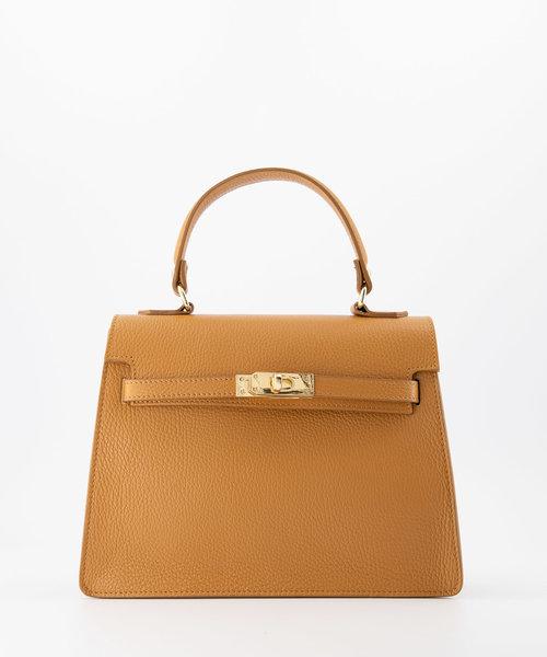 Helene - Classic Grain - Hand bags - Brown - D44 - Gold