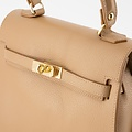 Helene - Classic Grain - Hand bags - Brown - D85 - Gold