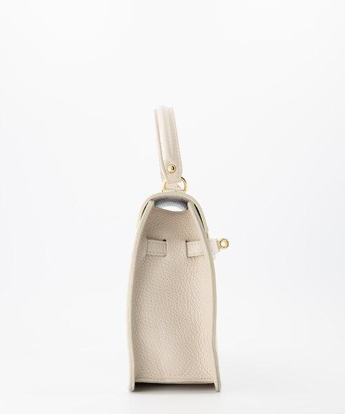Helene - Classic Grain - Hand bags - White - D37 - Gold
