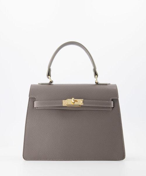 Helene - Classic Grain - Hand bags - Grey - D77 - Gold