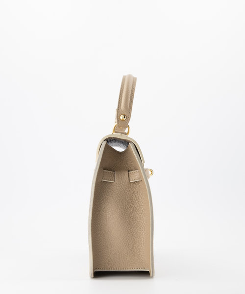 Helene - Classic Grain - Hand bags - Taupe - D05 - Gold