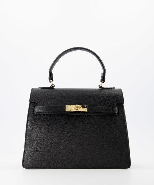 Helene - Classic Grain - Hand bags - Black - D28 - Gold