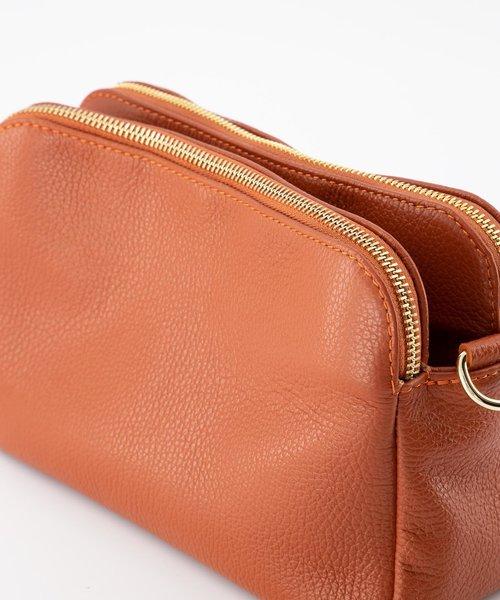 Simone - Classic Grain - Crossbody bags - Brick - D61 - Gold